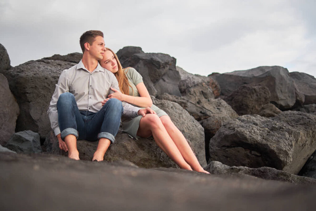 Fotografen Teneriffa Ela und Chris fotografieren Paar beim Strandshooting